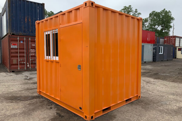 9' mini shipping container for sale with door and window